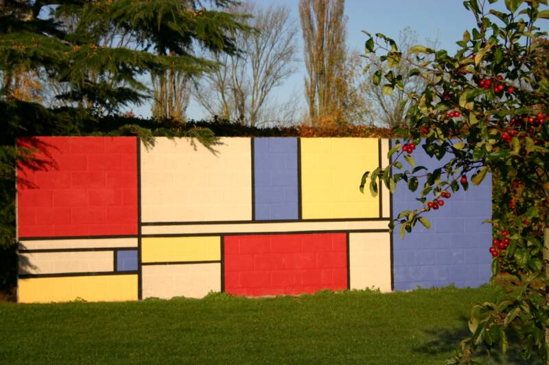 Mondrian Inspired garden