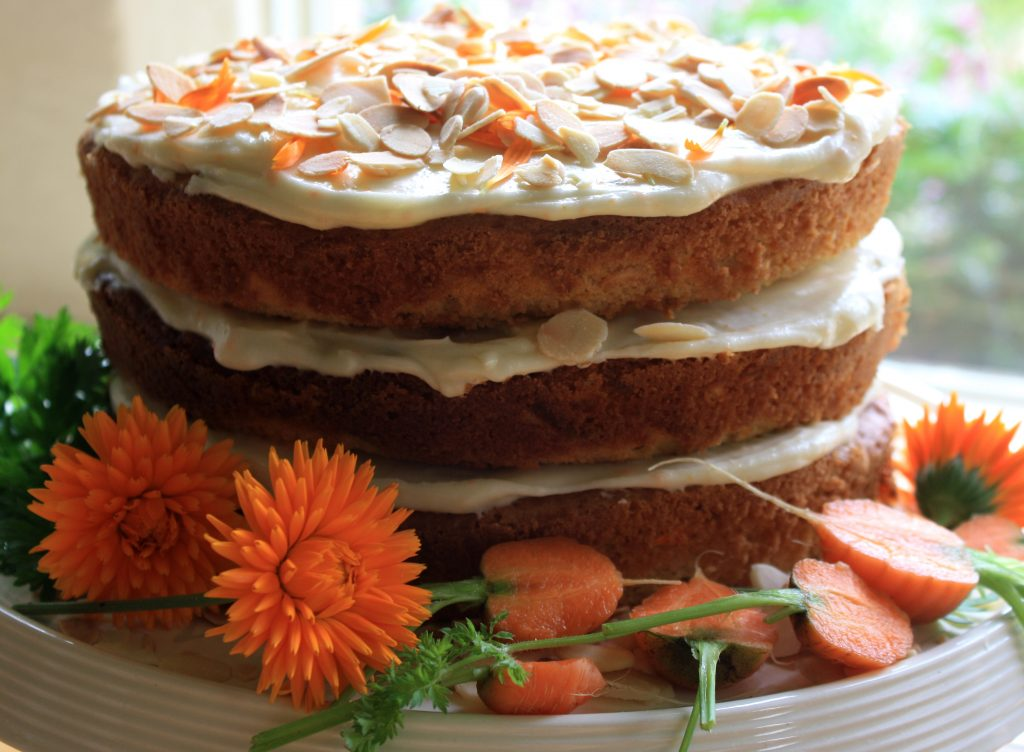 Carrot and Marigold cake